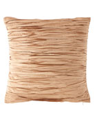 Austin Horn Collection Pleated Silk Pillow