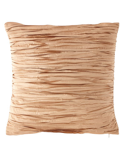 Pleated Silk Pillow