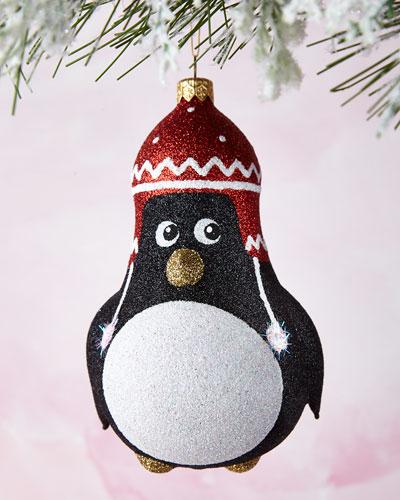Glittered Penguin Ornament