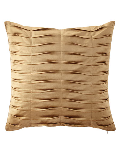 Emporium Pleated Velvet European Sham, Gold