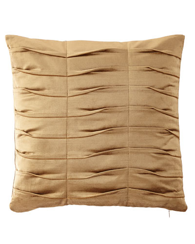 Emporium Pleated Velvet Boutique Pillow, Gold