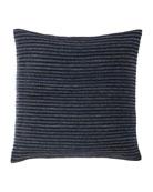Callisto Home Twill & Linen Hide Stripe Decorative