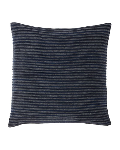Twill & Linen Hide Stripe Decorative Pillow