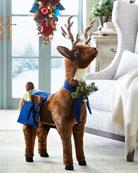 Ditz Designs By The Hen House Reindeer Footrest