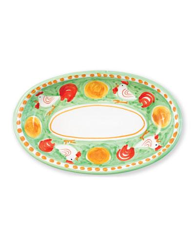 Campagna Gallina Small Oval Platter