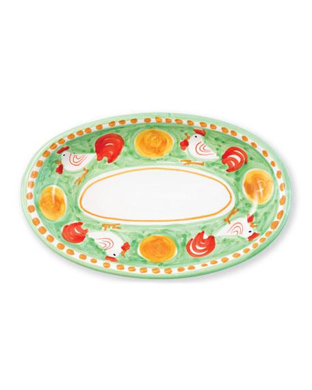 Vietri Campagna Gallina Small Oval Platter