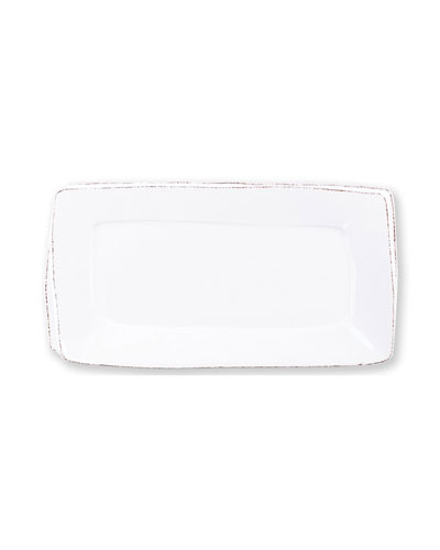 Lastra Rectangular Platter, White