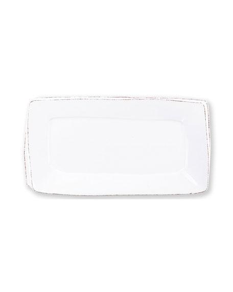 Vietri Lastra Rectangular Platter, White
