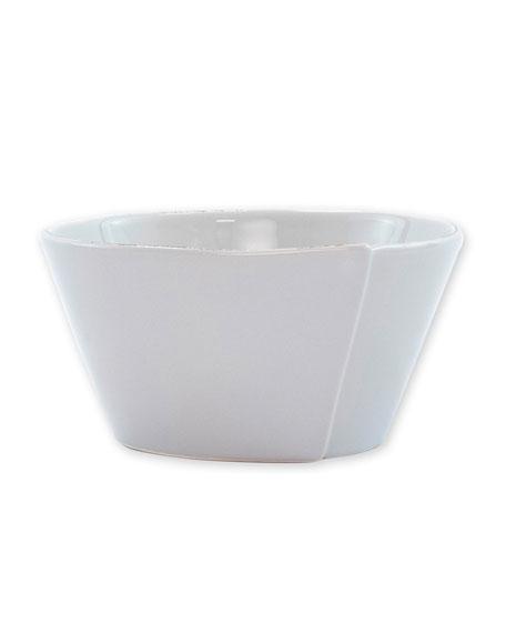 Vietri Lastra Stacking Cereal Bowl, Light Gray