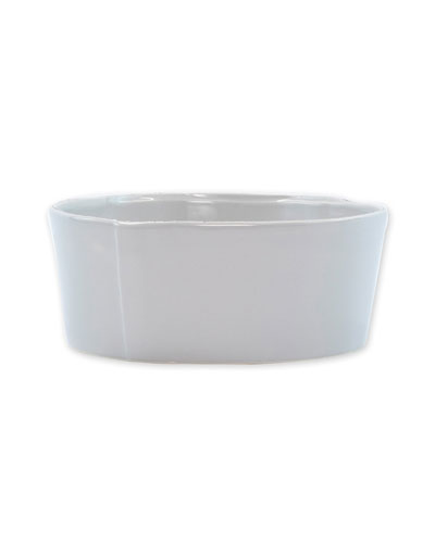 Lastra Medium Serving Bowl, Light Gray