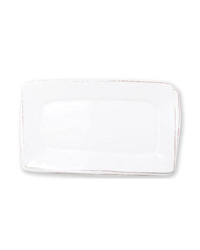 Melamine Lastra Rectangular Platter, White