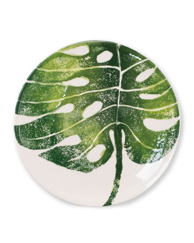 Into The Jungle Monstera Palm Leaf Salad Plate