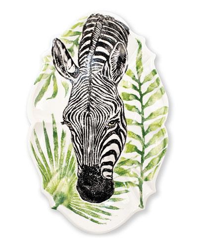 Into the Jungle Zebra Scallop Large Oval Platter