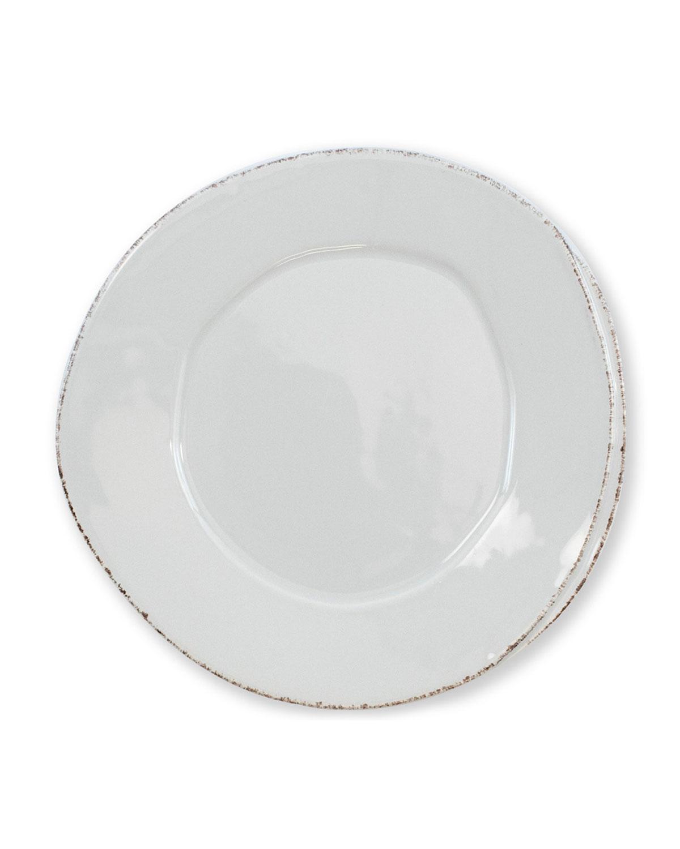 Vietri Lastra Salad Plate, Light Gray