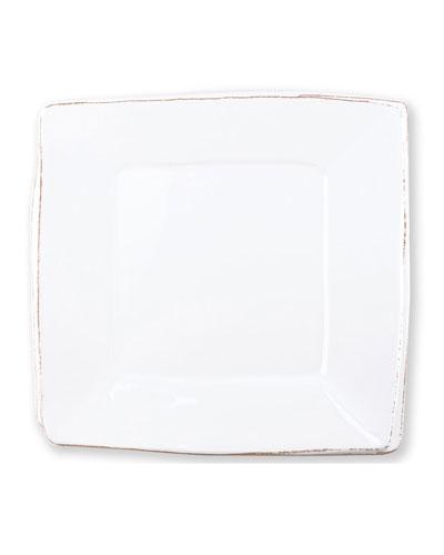 Melamine Lastra Square Platter, White