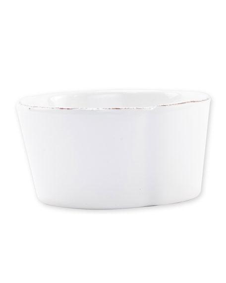 Vietri Melamine Lastra Condiment Bowl, White