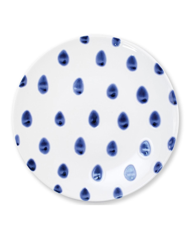 Vietri Viva Santorini Dot Dinner Plate