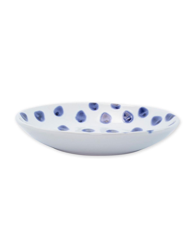 Vietri Viva Santorini Ceramic Dot Pasta Bowl