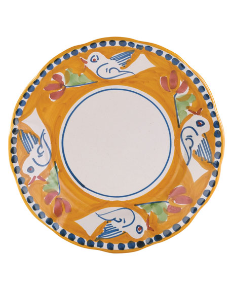 Vietri Uccello Salad Plate