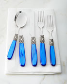 Neiman Marcus 20-Piece Victoria Shine Flatware Set, Blue