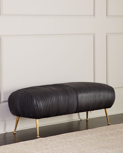 Beretta Modern Leather Bench, Black