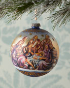 G. Debrekht Nostalgic Family Nativity Limited Edition Glass