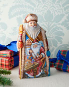 G. Debrekht Christmas Workshop Wood-Carved Santa Limited Edition
