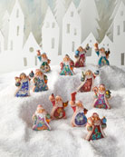 G. Debrekht 12 Days of Christmas Santa Ornaments