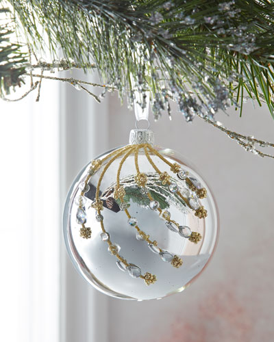Chanel Christmas Ornaments.Crystal Christmas Ornament Neiman Marcus