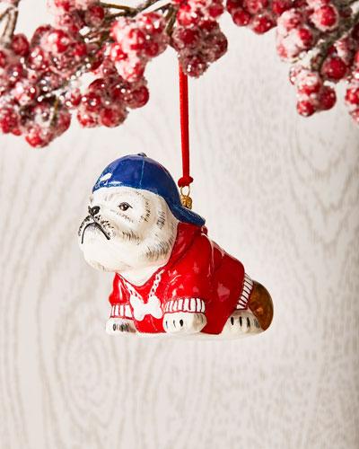 Bulldog in Backwards Cap Ornament