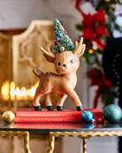 Bethany Lowe Merry and Bright Standing Reindeer Figurine