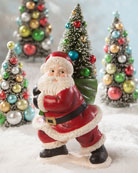 Bethany Lowe Merry and Bright Santa with Tree