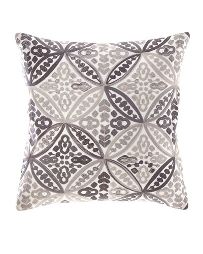 Textured Linen Geometric Pillow