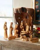 Bethlehem Star Tall Nativity with Crib