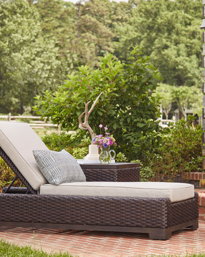 Brannon Outdoor Deep Chaise