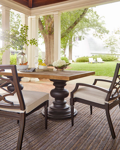 Morrissey Outdoor Phillips Dining Arm Chairs, Set of 2