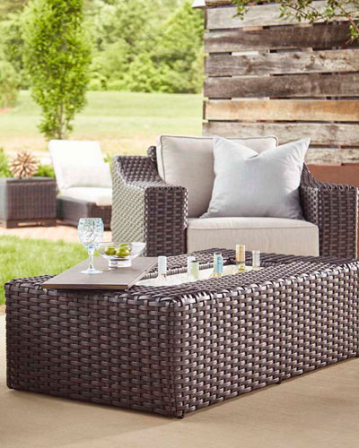 Brannon Outdoor Deep Swivel Chair