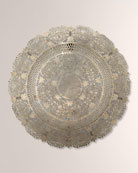 Jamie Young Penelope Lace Wall Art Medallion Antiqued