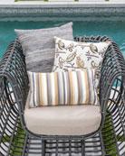 Elaine Smith Textured Lumbar Sunbrella Pillow
