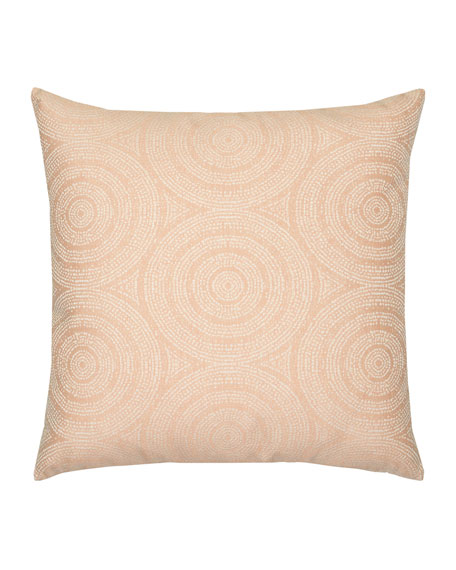 Elaine Smith Cosmos Whisper Sunbrella Pillow, Pink