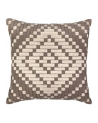 Elaine Smith Diamond Sunbrella Pillow, Beige