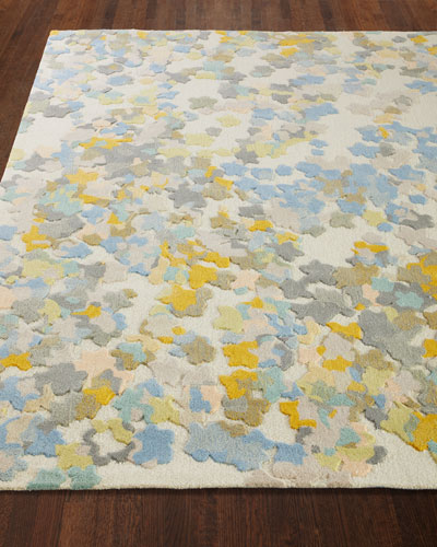 Flowers Hand-Tufted Rug, 6' x 9'