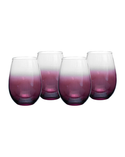 Kingsley Stemless Wine Glasses, Set of 4