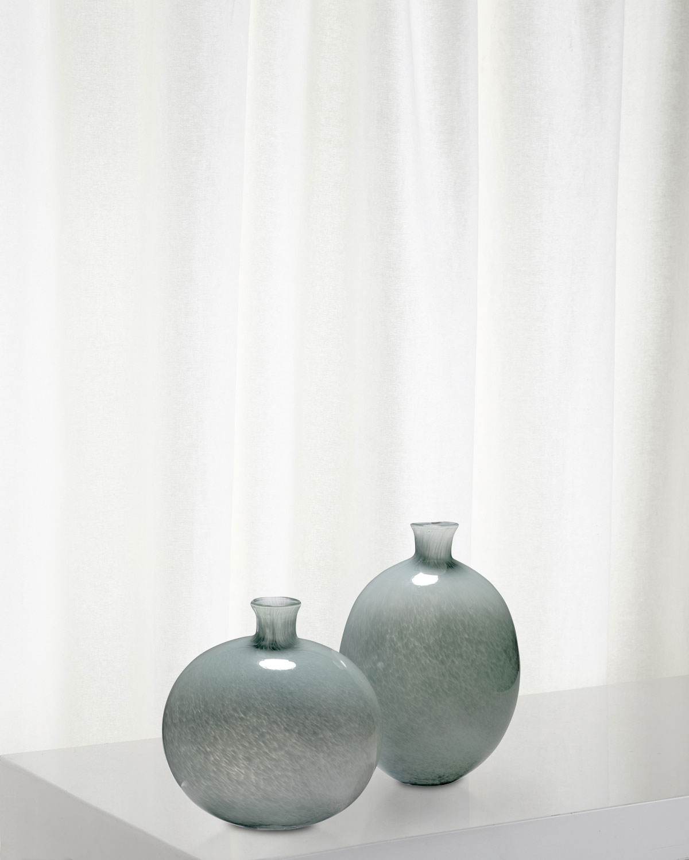 Minx Decorative Vases in Grey Glass, Set of 2