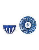Hermès Bleus d'Ailleurs Breakfast Cup & Saucer Set