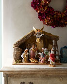 Fontanini 7-Piece Nativity Set with Italian Stable
