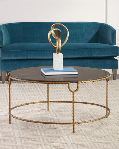 Tiffany Marble-Top Coffee Table