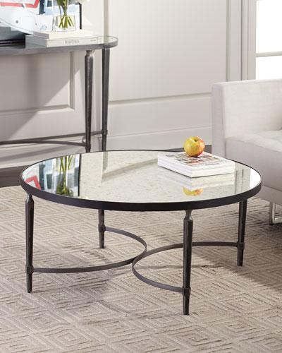 Sahara Antiqued Mirror Coffee Table