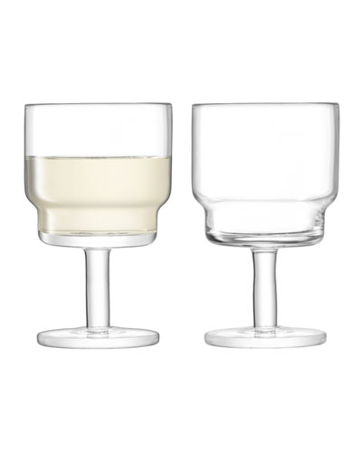 Clear Utility Wine Glasses, Set of 2
