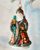 Christopher Radko Traveling Father Christmas Ornament